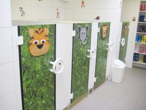 Kindergarten WC Trennwand_Feldmann Trennwand